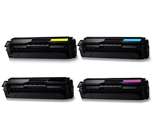 Compatible Samsung CLT-K504S C504S M504S Y504S (COMBO SET- 4 packs) replacement toner cartridges for CLP-415NW, CLX-4195FN multifunction printer, Xpress SL-C1860FW, SL-C1810W color laser