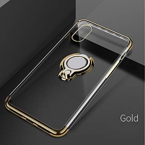 GOOGEE Fitted Cases - Ultra Thin Transparent Phone Case for iPhone Xs Max Xr X 8 7 6 6s Plus Car Magnetic Cases Finger Ring Holder Cover Coque - for iPhone 8 Plus_Gold - Sofa Rugged Couch ()