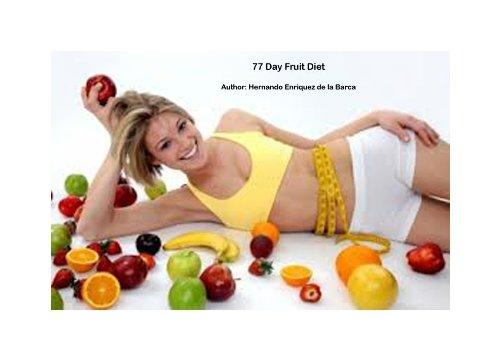 Dieta de Frutas Por 77 Días (Spanish Edition) by [Enriquez de la Barca