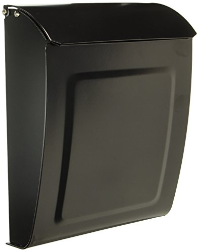 - Architectural Mailboxes 2594B Black Aspen Locking Wall Mount Mailbox, Small,