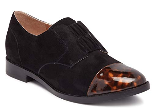 Vionic Womens Wise Jayla Slip On Shoes - Ladies Cap Toe Derby Flats with Concealed Orthotic Arch Support