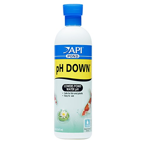 (API POND pH DOWN Pond Water pH Reducing Solution 16-Ounce Bottle)
