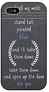 Diy For LG G3 Case Cover And all my walls stand tall painted blue, and I'll take them down, black plastic Ed Sheeran Inspirational and motivational life quotes SURELOCK AUTHENTIC