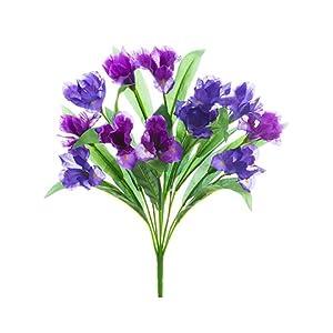"20"" Iris Bush x12 Purple Blue (pack of 12) 17"