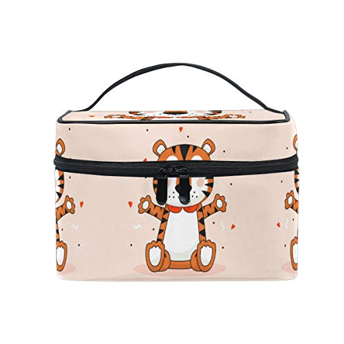 Heart Baby Tiger Women Makeup Bag Travel Cosmetic