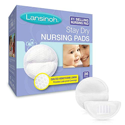 (Lansinoh Stay Dry Disposable Nursing Pads, Pack of 36)
