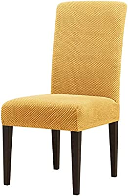 Subrtex Chair Covers Jacquard Spandex Fabric Dining Room Chair Slipcovers 2 Beige Jacquard Buy Online At Best Price In Uae Amazon Ae