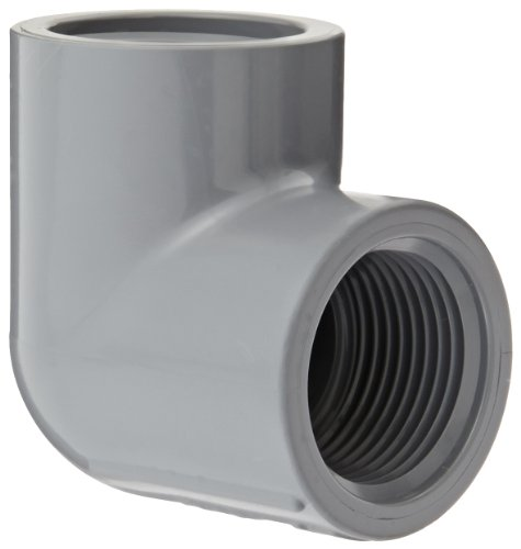 Spears 808-C Series CPVC Pipe Fitting, 90 Degree Elbow, Schedule 80, 1 NPT Female