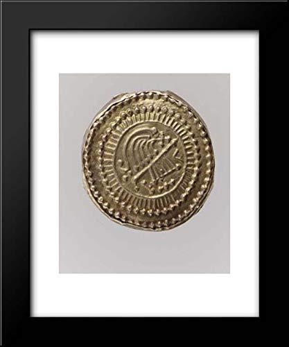 Frankish Culture - 15x18 Framed Museum Art Print- Gold Disk Brooch