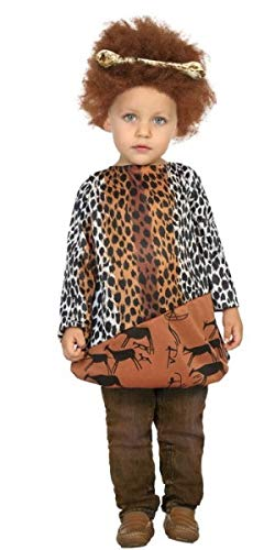 Baby Boys Girls Caveman Cavewoman World Book Day Halloween Fancy Dress Costume Outfit Top (6-12 months)