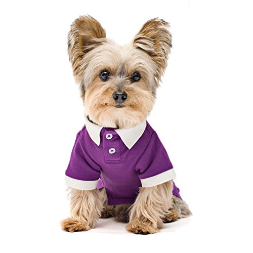 Stinky G Streth Polo Shirt Contrast Color Collar Purple Size #08
