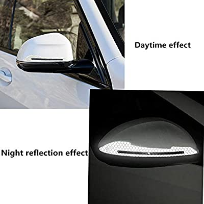 2pcs 3D Car Reflective Sticker Rearview Mirror Protection Car Rear View Mirror Stickers Decor DIY Car Body Sticker(Silver): Arts, Crafts & Sewing