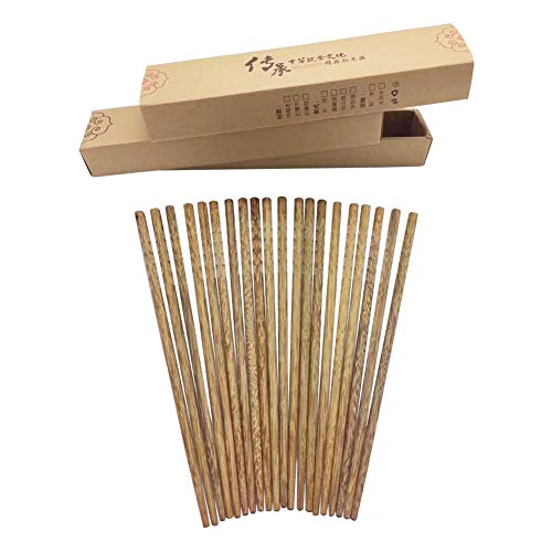 - Udyr Luxury Reusable Natural Wenge Wood Chopsticks Multicultural Ancient Asian Wisdom Hand-polished Non-slip Classic Chinese Style 10 Pairs with Gift Box