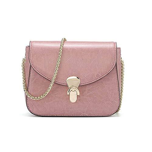 Pequeño Cadena Mensajero Spfazj Bolso Retro Nuevo Cuero Pink Simple De Cuadrado 2019 Hombro n0nF1qzx