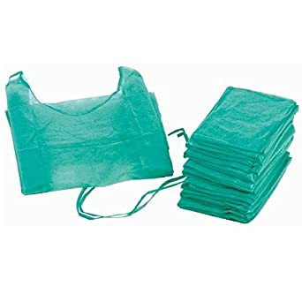 Bata hospitalaria desechable verde con puño elástico. Caja 100 uds: Amazon.es: Industria, empresas y ciencia