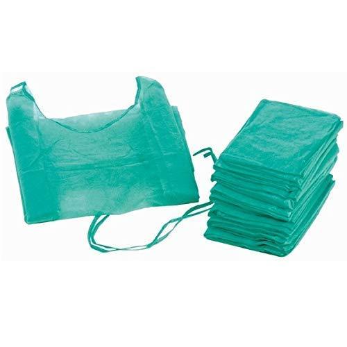 Bata hospitalaria desechable verde con puño elástico. Caja 100 uds ...