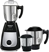 Maharaja Whiteline Joy Turbo 750-Watt Mixer Grinder with 3 Jars (Black/Silver)