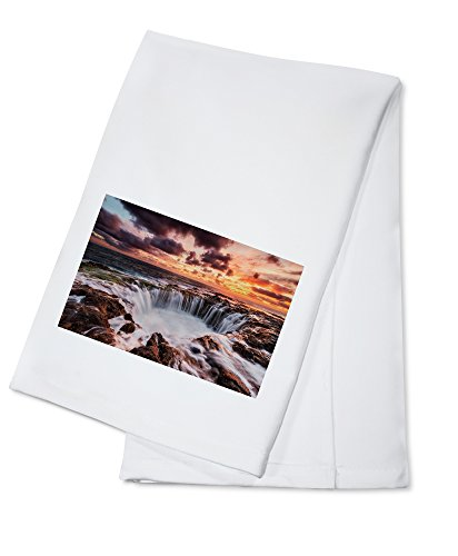 Gran Canaria, Canary Islands - El Befadero Hole (100% Cotton Kitchen Towel) - Canary Kitchen Towel