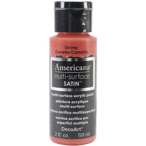 DecoArt Americana Multi-Surface Satin Acrylic Paint, 2-Ounce, Shrimp by DecoArt