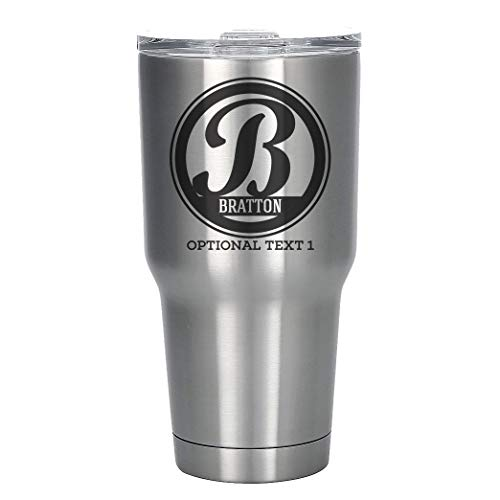 - Personalized Etched Monogram Tumbler 30oz Insulated Stainless Steel