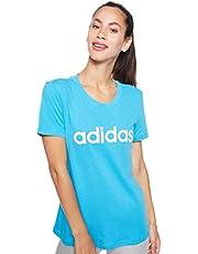 adidas Damen Essentials Linear Slim T-Shirt