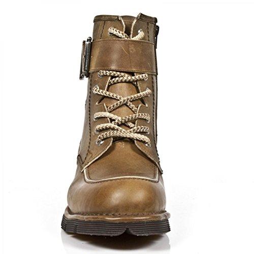 New Rock Boots M.newmili112-c1 Gotico Hardrock Punk Unisex Stiefel Braun