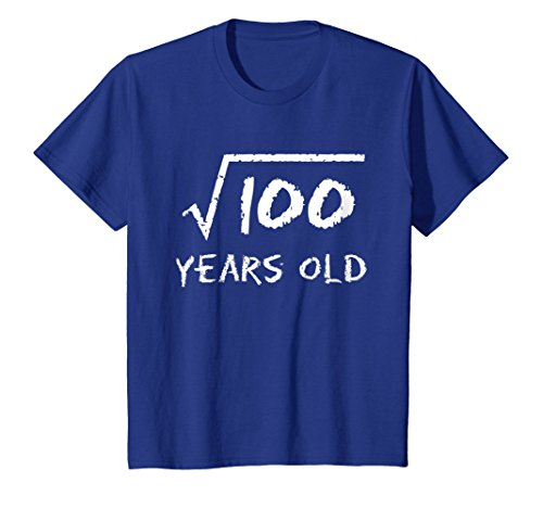 Kids Square Root of 100: 10th Birthday 10 Years Old