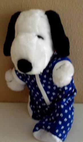 Snoopy 15 Inch Plush in Pajamas - Pajamas Can Be Taken Off -