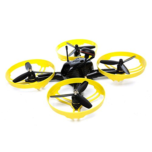 Blade Scimitar 170 FPV RTF RC Drone Racer with 2.4GHz DXe Radio System (Tx/Rx) | 4S LiPo Battery | 600TVL CMOS Camera, FPV Monitor, Headset Adapter (Black/Yellow)