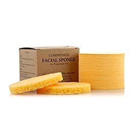 Facial Sponges – APPEARUS Compressed Natural Cellulose Face Sponge – Made in USA – Professional Spa Sponges for Face…
