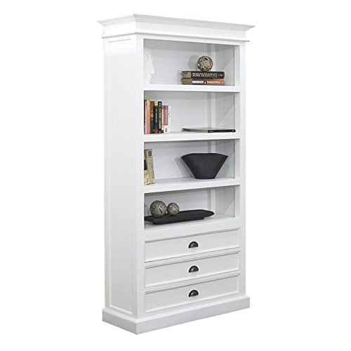 halifax-mahogany-bookcase-with-3-drawers