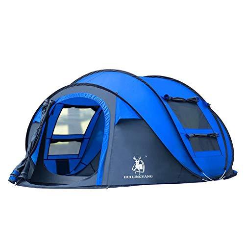 印象的亜熱帯クレジット屋外テント、2-3-4人完全自動ボートタイプダブルドア防水ポータブルテント、アウトドアハイキングビーチ釣りのモバイルハウスNayang Store