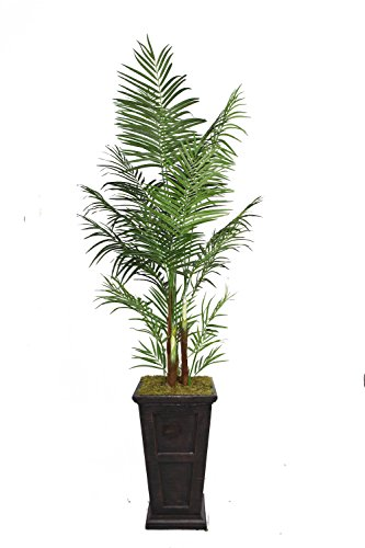 Laura Ashley VHX108201 95-Inch Areca Palm Tree in 16-Inch Fiber Stone Planter