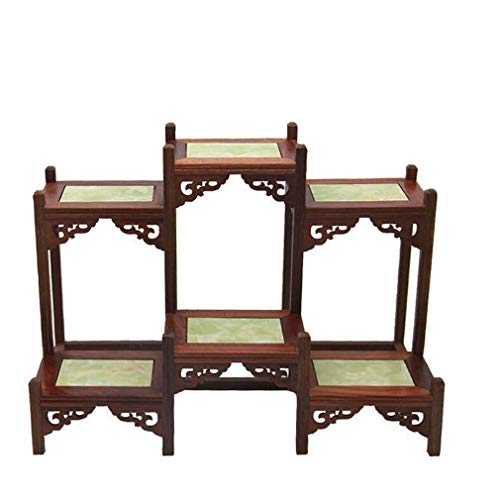 HUI Tea Set Teapot Shelf, Antique Style Antique Rack Decorative Frame Purple Sand Pot Shelf Teapot Vase Strange Stone Jade Bonsai Purple Sand Pot Holder,a