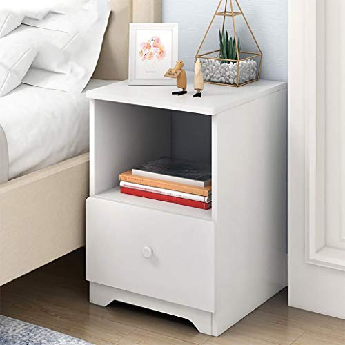 US Fast Shipment Quaanti Nightstand with 2 Drawers and Open Cabinet - Bedside Furniture & Accent End Table Chest,Side Table for Small Spaces,Wood Look Accent Furniture for Bedroom (A)