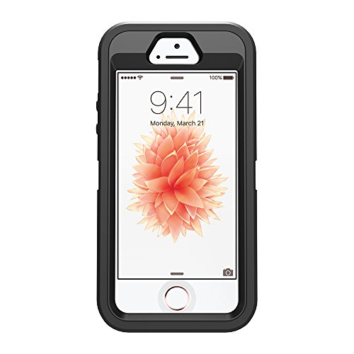 OtterBox Defender Series Case for iPhone 5/5s/SE - Black - Frustration Free Packaging by OtterBox (Image #6)