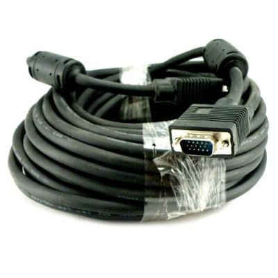 Flat Panel Xga Monitors (Importer520 50 FT SVGA HD15 SUPER VGA Male to Male M/M MONITOR/LCD/PROJECTOR CABLE Great for hooking up projectors and computer flat panel display monitors to portable or desktop computers for netflix viewing- HDTV - Plasma Televisions - LCD LED TV With Ferrites)