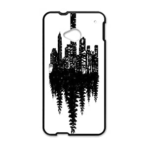 HTC One M7 Cell Phone Case Black Opposite XCX 3D Plastic Phone Case