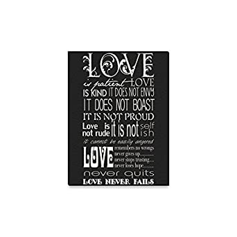 Amazon.com: Bible Verse/Bible Quotes Love Is Patient, Love Is Kind. Oil  Painting Home Decor Canvas Prints  12x16 Inch(One Side): Clothing