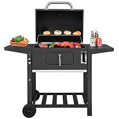 Royal Gourmet 24 Inch Charcoal Grill,BBQ Outdoor Picnic, Camping, Patio Backyard Cooking,Black