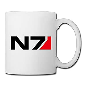 Christina Mass Effect N7 Logo Ceramic Coffee Mug Tea Cup White