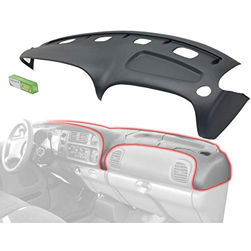 Grey Molded Plastic Dash Pad Cover Overlay Fits 98-02 Dodge Ram Trucks ()