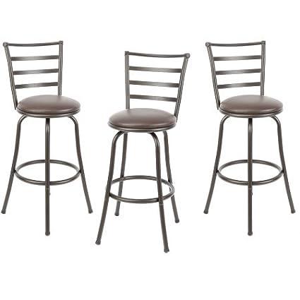 Strange Adjustable Height Swivel Barstool Hammered Bronze Finish Set Of 3 Cjindustries Chair Design For Home Cjindustriesco