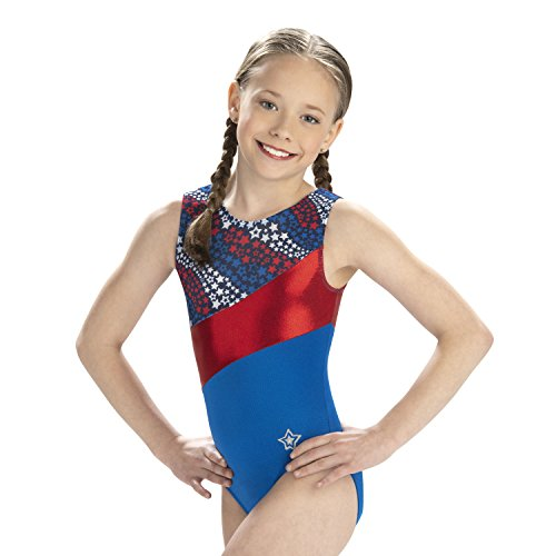 GK stars Leotard For Girls | Dance & Gymnastics Falling Stars Adult Extra Small (Review Range Star Blue)