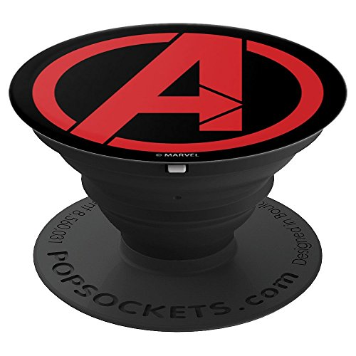Marvel Avengers Classic Red Logo Icon - PopSockets Grip and Stand for Phones and - Icon Logo