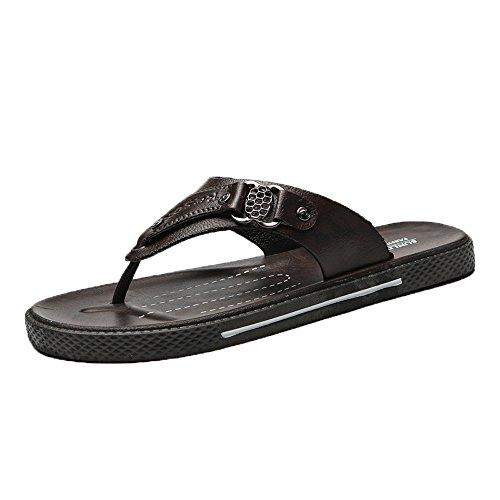 y Zapatos Ocio Deporte Cinnamou Chanclas Marrón Cómodos de de Pantuflas Zapatillas Verano Zapatos Hombre Suave Calzado Playa de Sandalia 4wzqI8zA5