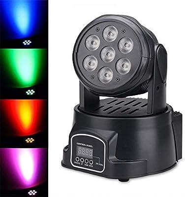 TrAdE Shop Traesio Proyector LED RGB Cabeza móvil giratoria ...
