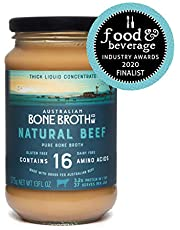 Australian Beef Bone Broth Concentrate - Natural Beef - Instant broth beverage - Gluten Free, No Spices or Herbs, Instant healthy broth beverage. 13Floz Made in Australia