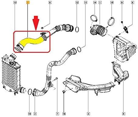 Tuyau de refroidisseur interm/édiaire pour turbo 1107587S01 144609787R