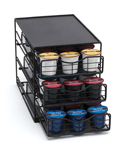 Lipper International 8670 In-Cabinet Coffee Pod Drawer, 3-Tier, 45-Pod Capacity, Black by Lipper International (Image #6)